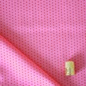 Tissu imprimé à pois framboise