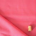Tissu imprimé à carreaux rose framboise