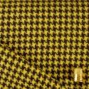 Lainage pied de poule jaune et marron