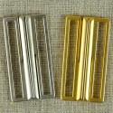 Boucle de ceinture métal, dorée ou nickelée