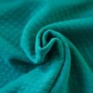 Jersey matelassé Bio bleu canard