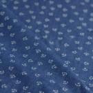 Tissu chambray imprimé ancres