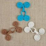 Crochet à volutes de couleur