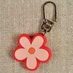 Tirette de fermeture à glissière fleur rose