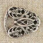 Attache métal couleur argent vieilli