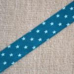 Biais à étoile bleu lagoon et bleu turquoise