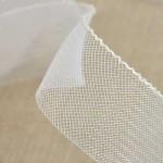 Bande de crin nylon blanche 4,3 mm à 100 mm