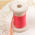 Bretelle élastique bicolore rose et orange
