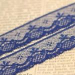 Dentelle de Calais lingerie bleue