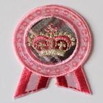 Ecusson paillettes rose lurex british remise diplôme