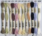 Lot de 12 fils moulinés lin