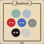 Petits boutons de chemisiers 8 mm