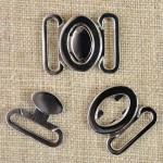 Agrafe maillot de bain métal argenté