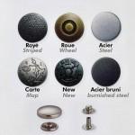 6 Boutons-pression à riveter Anorak Design