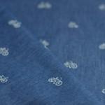 Tissu chambray imprimé vélo