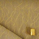 Coupon de 1,40 m de tissu impression or
