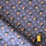 Coton mauve à petites fleurs de couleurs