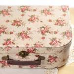 Valise carton vintage pour boite à couture
