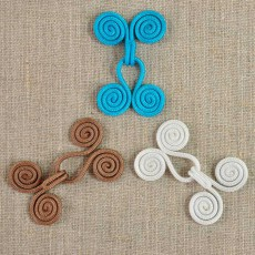 Crochet à volutes de couleur