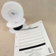 Rouleaux élastique tresse plate 50 m 3 à 13 mm blanc cassé ou noir