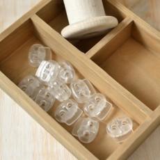 Arrêt cordon transparent 25 mm pour cordon 5 mm