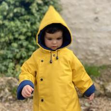Patron couture bébé manteau burnou Batramie du 3 mois au 4 ans