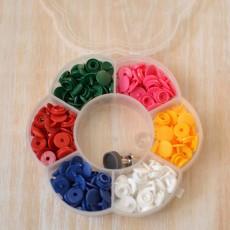 Boîte boutons pressions enfant assortiment multicolore 9 mm prym