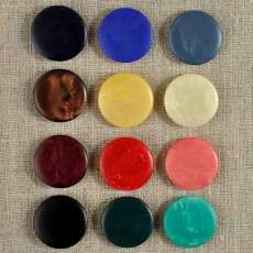 Bouton plat à pied intégré 12 à 22 mm - 12 couleurs