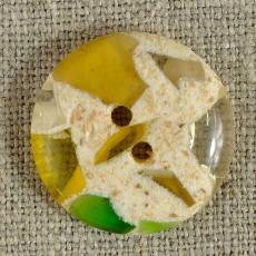 Bouton semi-transparent jaune vert diamètres 14-18-22 mm