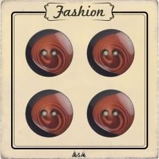 Bouton marron et noir imitation bois