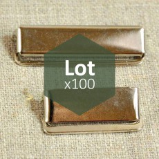 Clips de réglage de bretelle haut de gamme 25 ou 36 mm lot de 100 pièces