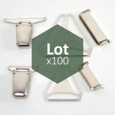 Lot 100 pièces accessoires pour bretelles 24 ou 36 mm - 1er prix