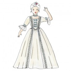 Patron couture robe princesse marquise enfant 4 à 10 ans