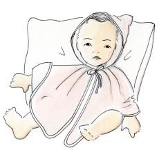 Patron couture cape de bain bébé