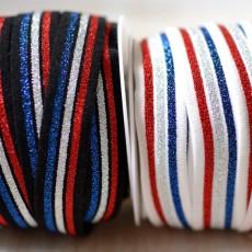 Elastique lurex 20 mm drapeau France