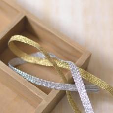 élastique tresse or ou argent 7 mm au mètre