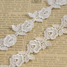Guipure blanche et ivoire fleurs pour mariage