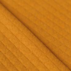 Tissu matelassé moutarde bio à coudre
