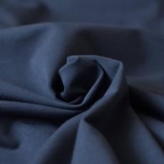 Tissu sweat fin bleu marine en coton bio gots