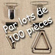 Accessoires haut de gamme pour bretelles 25 ou 36 mm par lots de 100 pièces
