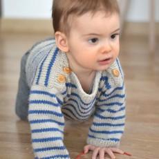 Modèle à tricoter marinière bébé Augustin