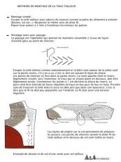 Document : méthode de montage de la toile tailleur