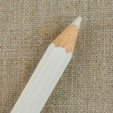 Crayon à tissu craie blanc/rouge