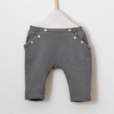 Patron couture bébé sarouel Nandou en jersey matelassé Bio gris