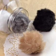 Pompon en fausse fourrure à coudre pour bonnet ou écharpe