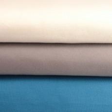 Tissu sweat bio au mètre écru, taupe et bleu canard