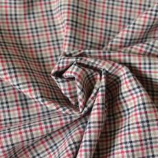 Tissu style lainage tartan écossais en coton bio au mètre