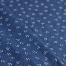 tissu chambray imprimé ancre marine