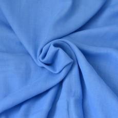 Tissu double gaze bio bleu roi au mètre