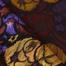 Tissu jacquard damassé fleurs couleurs changeantes pas cher